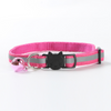 $12.50 - REFLECTIVE SAFETY BREAKAWAY ADJUSTABLE CAT COLLAR WITH BELL PINK 0.1KG (8) TRAVEL PETS
