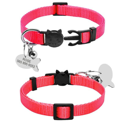 $13.75 - SAFETY BREAKAWAY QUICK RELEASE CAT COLLAR WITH BELL - ADJUSTABLE RED 0.25KG (6) TRAVEL PETS