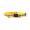 $12.50 - REFLECTIVE SAFETY BREAKAWAY ADJUSTABLE CAT COLLAR WITH BELL YELLOW 0.1KG (6) TRAVEL PETS