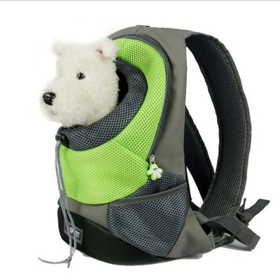 $39.95 - SMALL ANIMAL CARRIER BACKPACK - FOR CATS DOGS & SMALL ANIMALS GREEN 1KG (2) TRAVEL PETS
