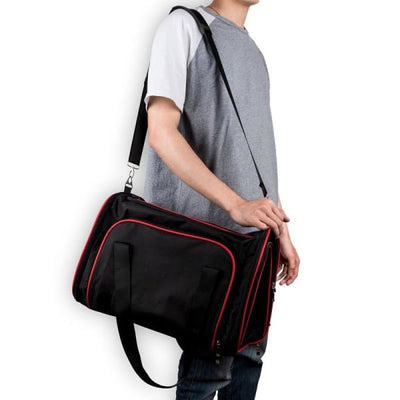$57.50 - SMALL EXPANDABLE CAT/DOG/PET CARRIER SHOULDER BAG (3) TRAVEL PETS