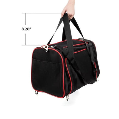 $57.50 - SMALL EXPANDABLE CAT/DOG/PET CARRIER SHOULDER BAG (4) TRAVEL PETS