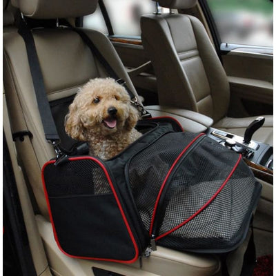 $57.50 - SMALL EXPANDABLE CAT/DOG/PET CARRIER SHOULDER BAG (2) TRAVEL PETS