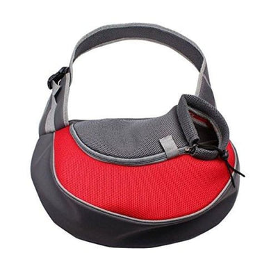 $39.99 - SMALL PET/CAT/DOG SHOULDER SLING CARRIER RED 0.65KG (9) TRAVEL PETS
