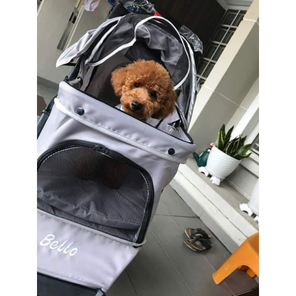 Bello Pet Pram/Stroller For Small Cats & Dogs
