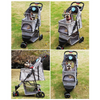 $159.00 - BELLO PET PRAM/STROLLER FOR SMALL CATS & DOGS GREY 6KG (5) TRAVEL PETS