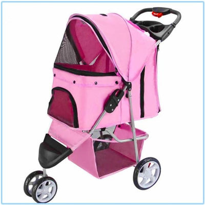 $159.00 - BELLO PET PRAM/STROLLER FOR SMALL CATS & DOGS PINK 6KG (6) TRAVEL PETS