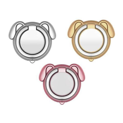 $12.95 - 360° MAGNETIC DOG FINGER RING HOLDER MOUNT STAND FOR IPHONE/SMARTPHONE (1) TRAVEL PETS