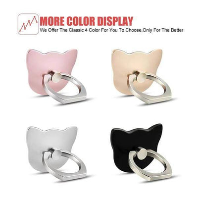 $12.95 - 360° CAT FINGER RING HOLDER MOUNT STAND FOR IPHONE/SMART PHONE (17) TRAVEL PETS