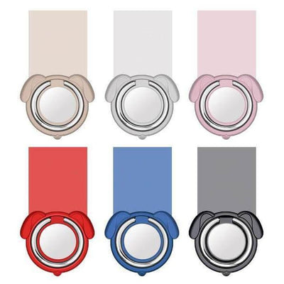 $12.95 - 360° MAGNETIC DOG FINGER RING HOLDER MOUNT STAND FOR IPHONE/SMARTPHONE (6) TRAVEL PETS