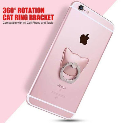 $12.95 - 360° CAT FINGER RING HOLDER MOUNT STAND FOR IPHONE/SMART PHONE (16) TRAVEL PETS