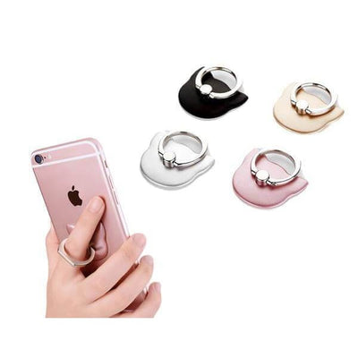 $12.95 - 360° CAT FINGER RING HOLDER MOUNT STAND FOR IPHONE/SMART PHONE (2) TRAVEL PETS
