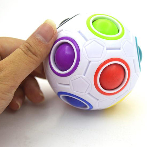 Rainbow Football Puzzle Toy