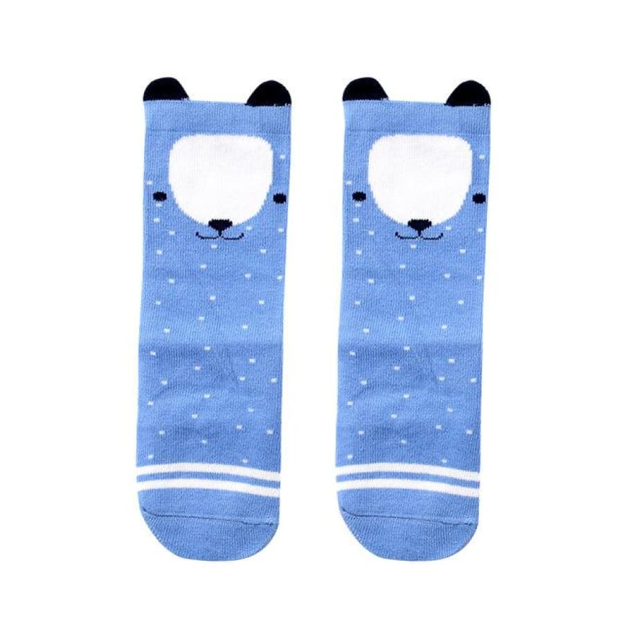 Animal Character Knee High Socks - Blue / to 2 Years - Socks Socks