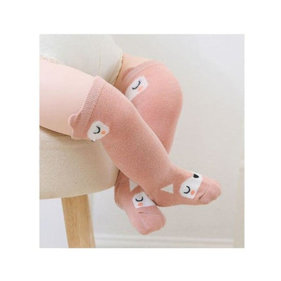 Animal Character Knee High Socks - Pink / to 2 Years - Socks Socks