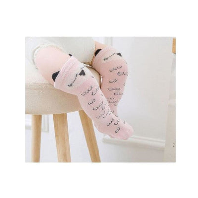 Animal Character Knee High Socks - Pink Print / to 2 Years - Socks Socks