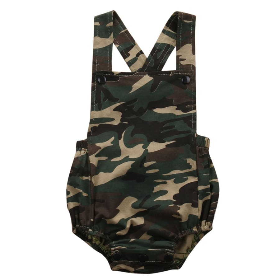 Bailey Camouflage Romper - 0-3 Months - Romper camo Romper unisex