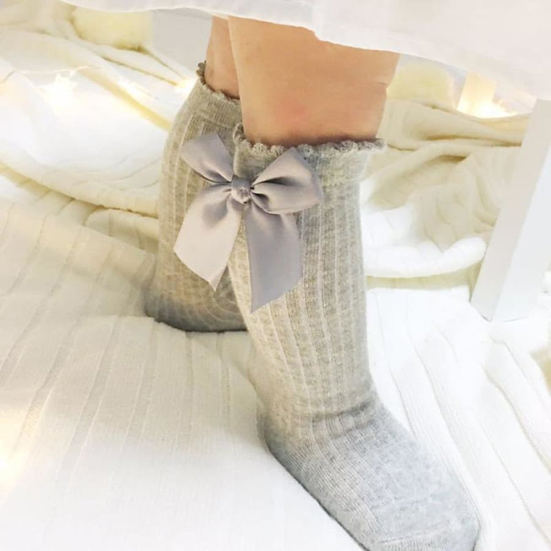 Bow Princess Knee High Socks - White / S - Socks Socks 25% off