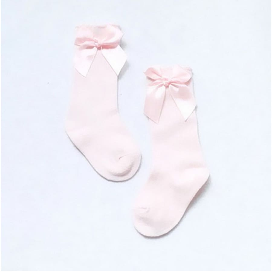 Bow Princess Knee High Socks - Pink / S - Socks Socks 25% off