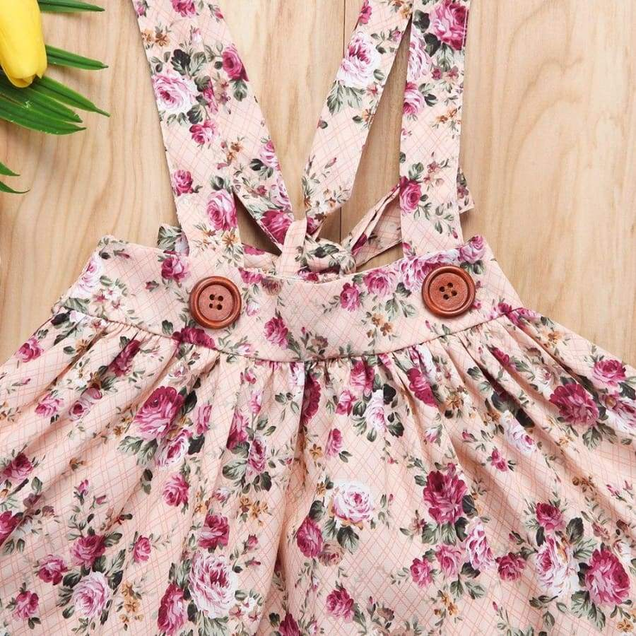 Brianna Floral Pinafore - Dresses Dress