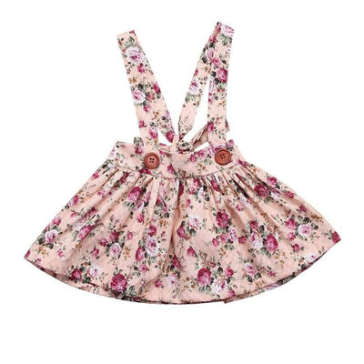 Brianna Floral Pinafore - Pink / 0-6 Months - Dresses Dress