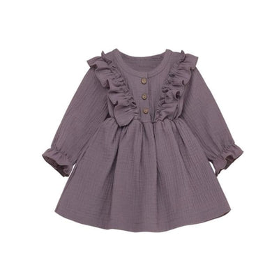 Brittany Frilly Long Sleeve Dress - Mauve / 2-3 Years - Dress dress