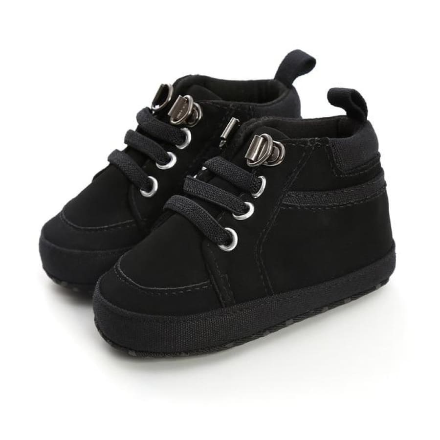 Caleb Lace Up Boot Pre-Walker - Black / 0-6 Months - Shoes shoes