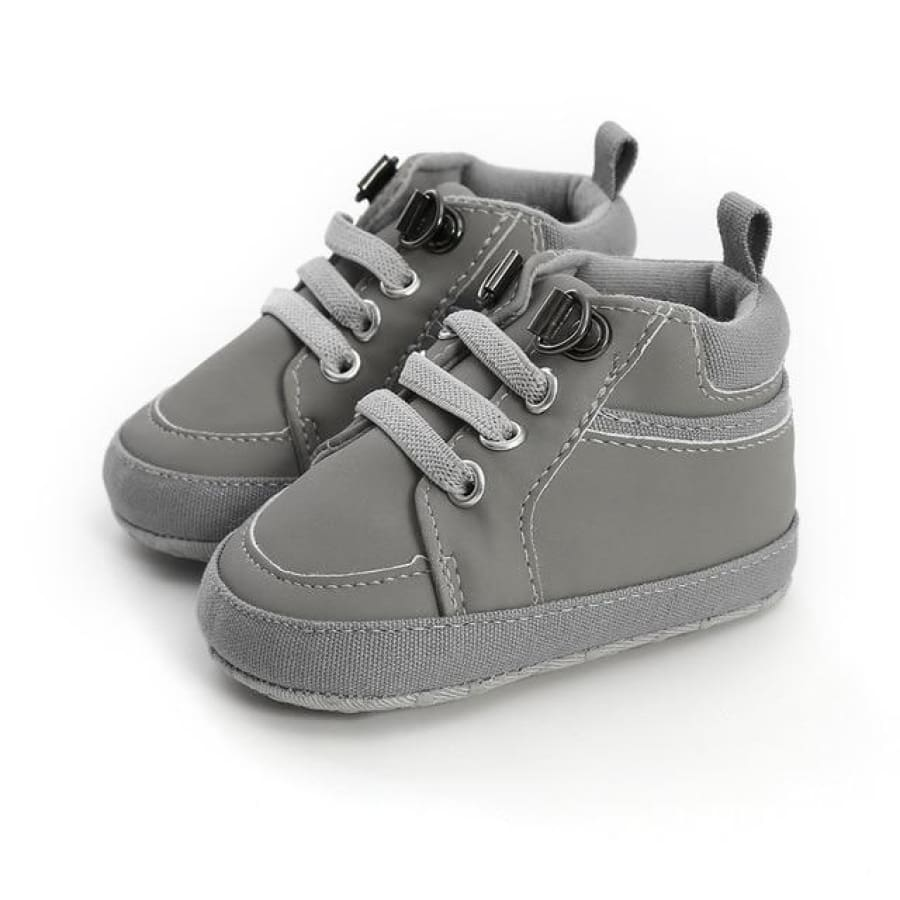 Caleb Lace Up Boot Pre-Walker - Grey / 0-6 Months - Shoes shoes
