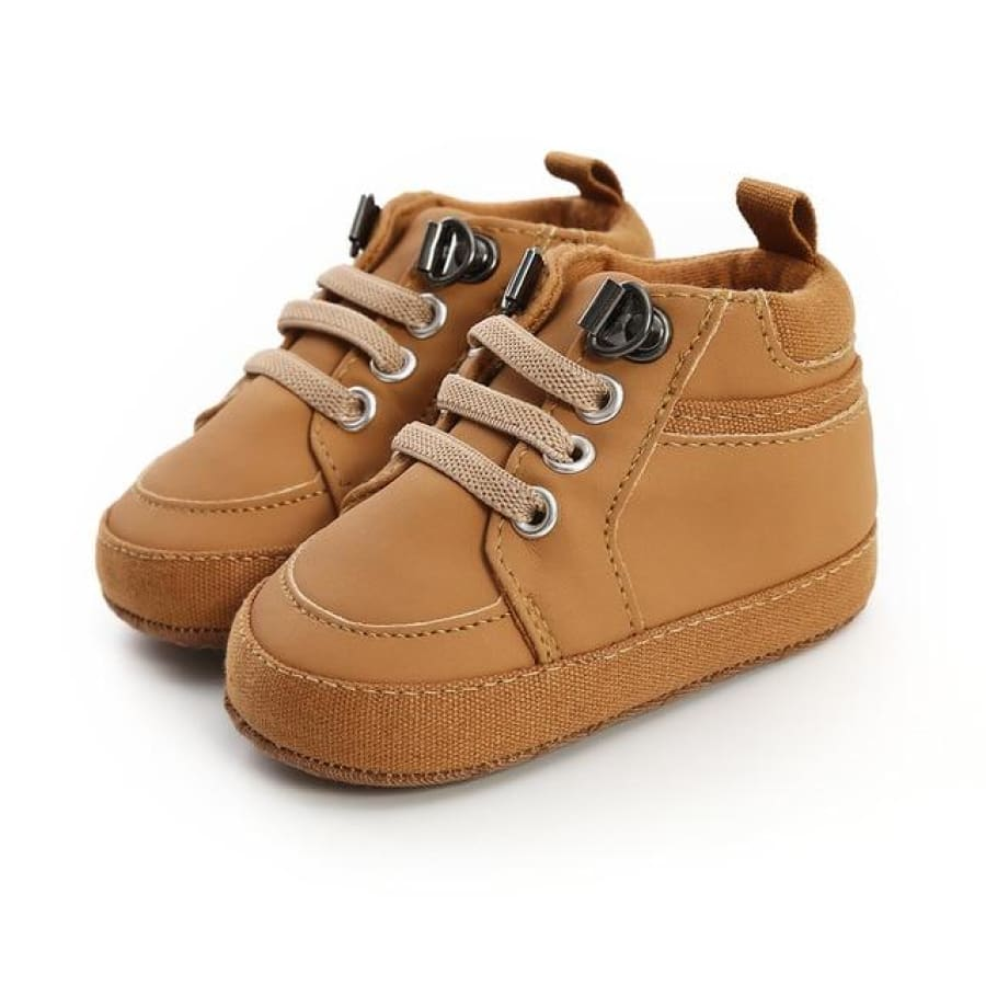 Caleb Lace Up Boot Pre-Walker - Tan / 0-6 Months - Shoes shoes