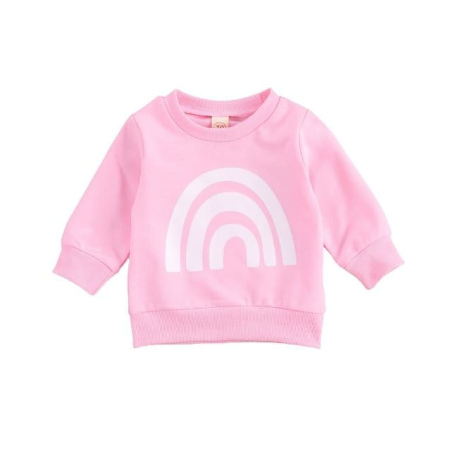 Carey Rainbow Sweater - Pink / 0-6 Months - Sweater sweater
