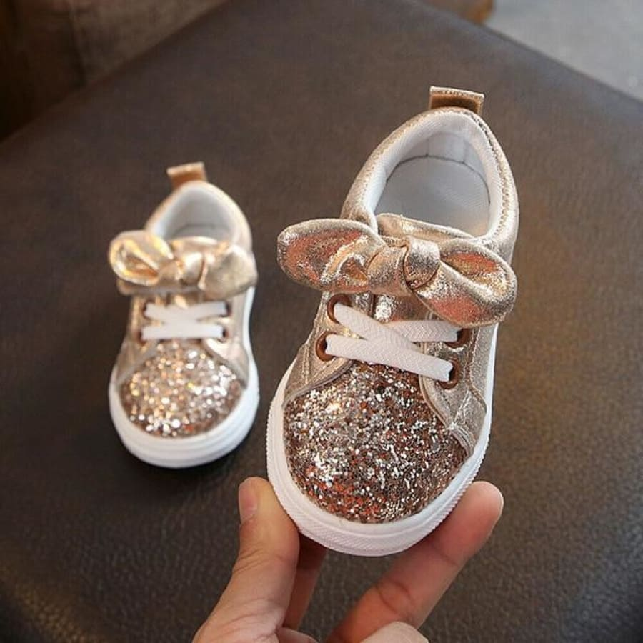 CeCe Sparkles Pre Walker Shoe - Gold / 21 - Shoes shoes
