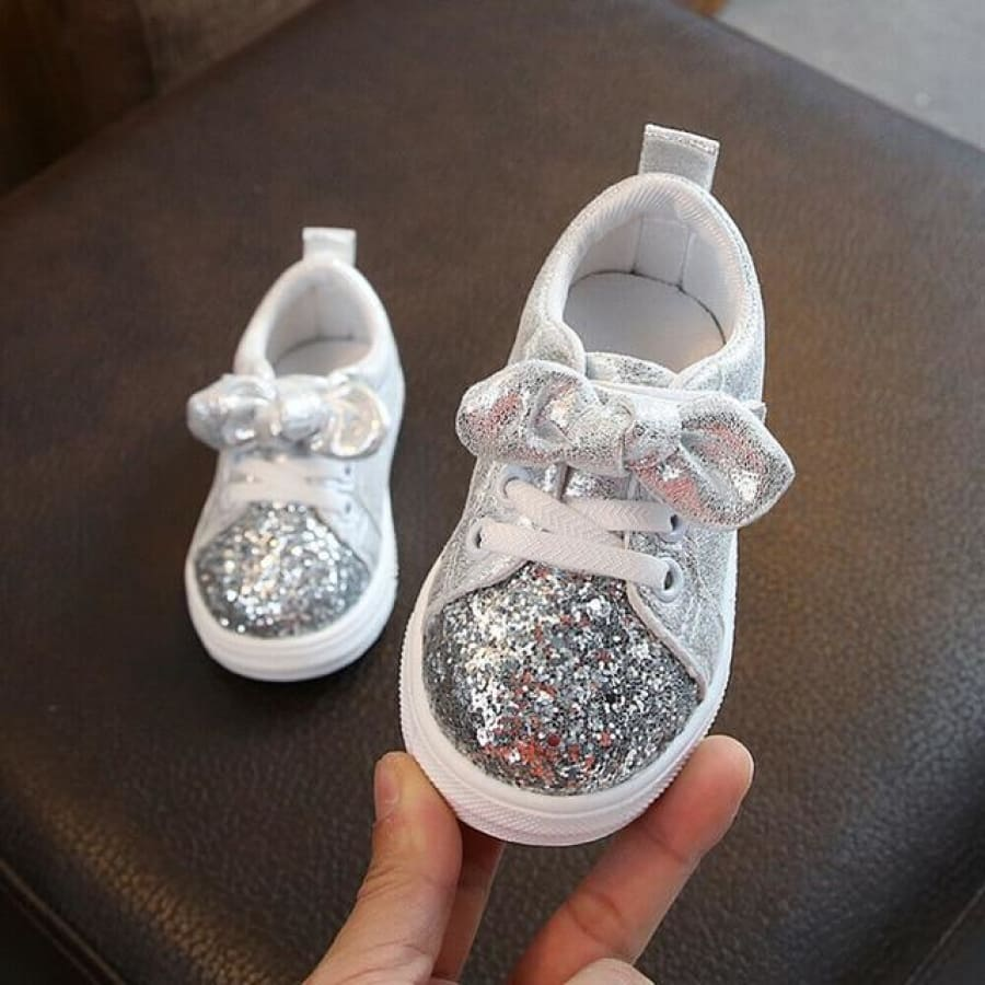 CeCe Sparkles Pre Walker Shoe - Silver / 23 - Shoes shoes