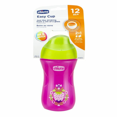 Chicco Easy Cup Girl 12m+ 266ml - Drink Bottle chicco drink cups insulated weaning