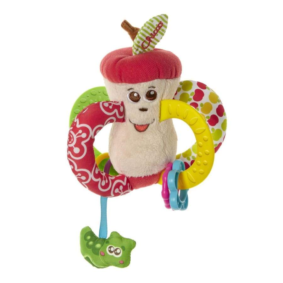 Easy To Grip Apple Textile Rattle - RATTLE rattle