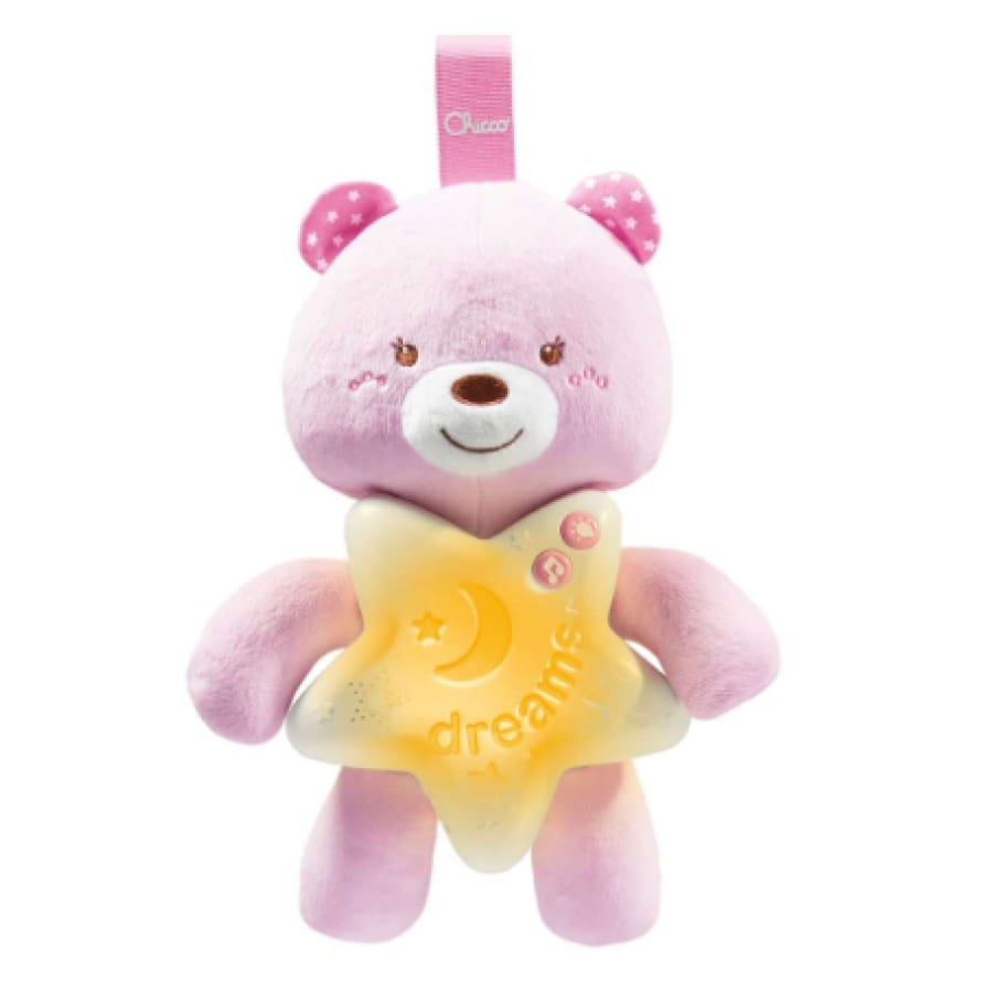 Chicco Goodnight Bear Pink - Toys bear boy chicco girl moon