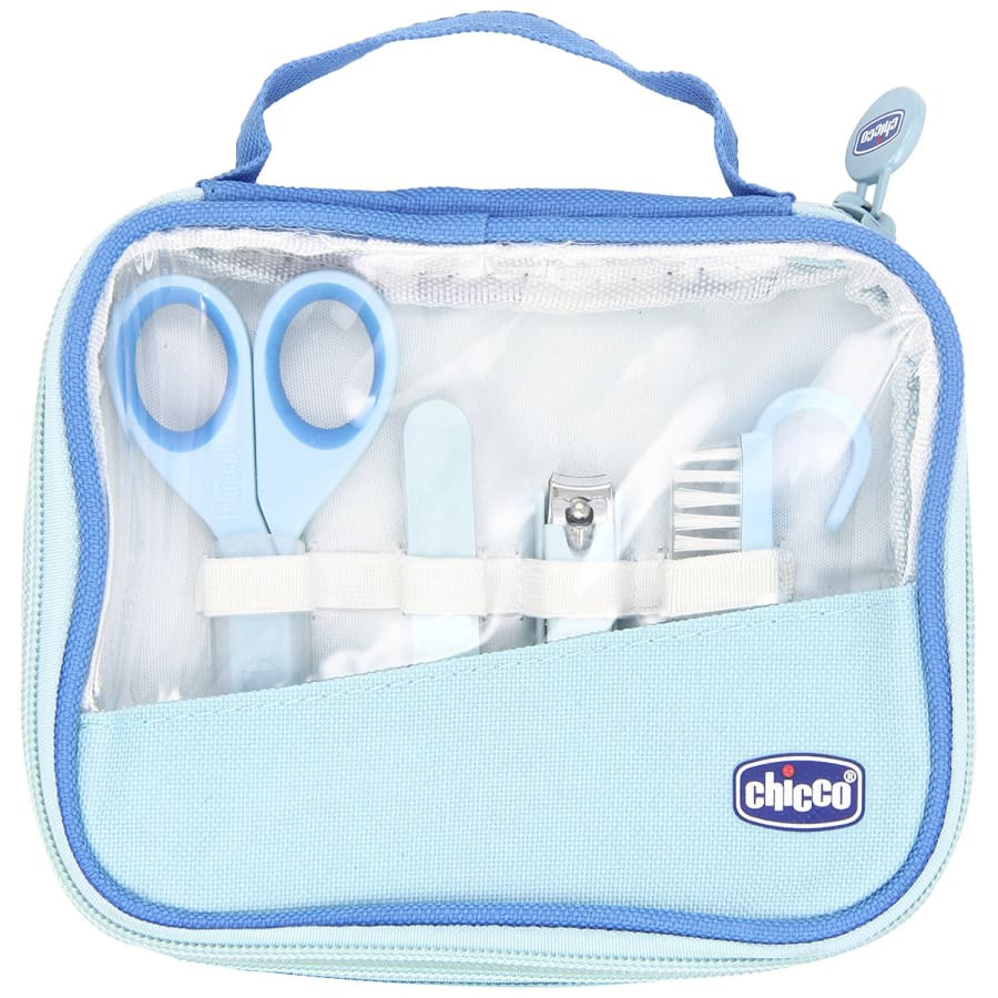Chicco Happy Hands Manicure Set - Blue - Nail Clippers breast feeding chicco nursing pillow pregnancy