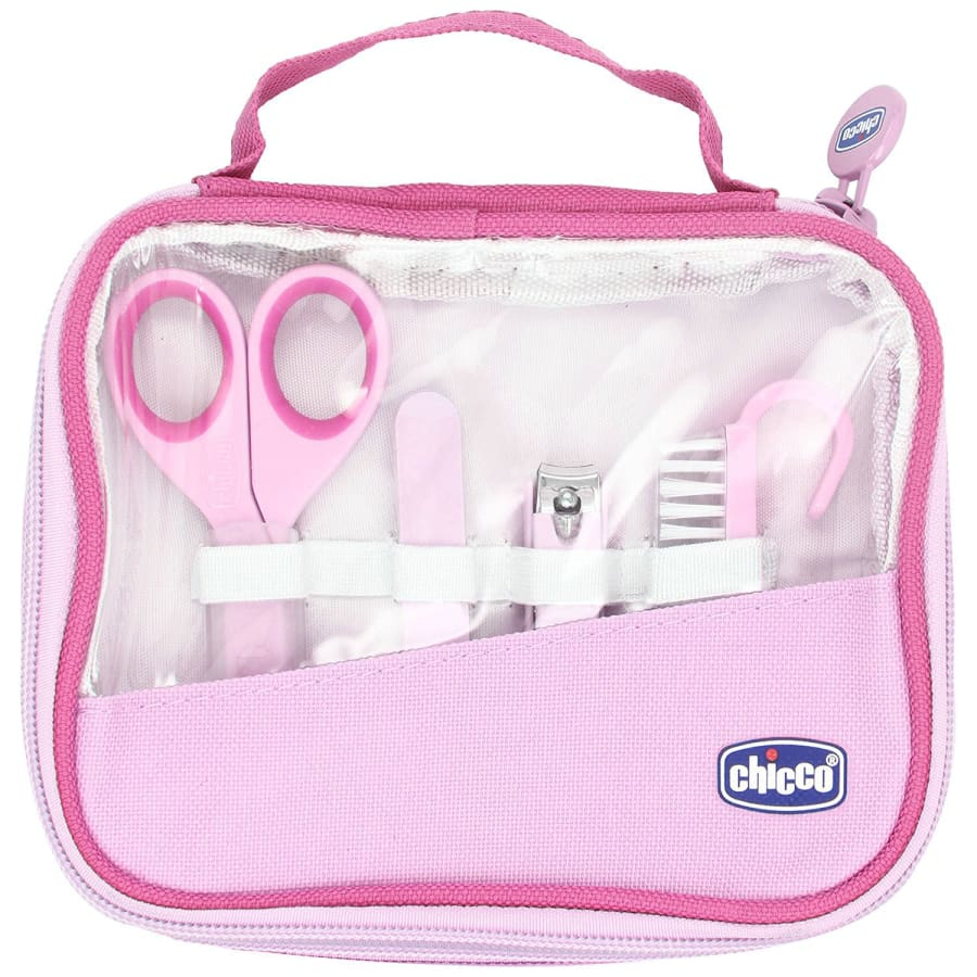 Chicco Happy Hands Manicure Set - Pink - Nail Clippers breast feeding chicco nursing pillow pregnancy