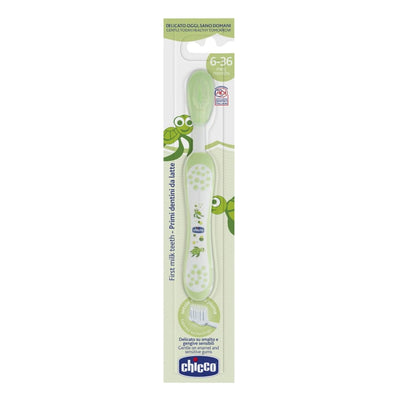 Chicco My First Milk Toothbrush 6-36 Months Green - Oral Care chicco oral care teeth toothbrush toothpaste