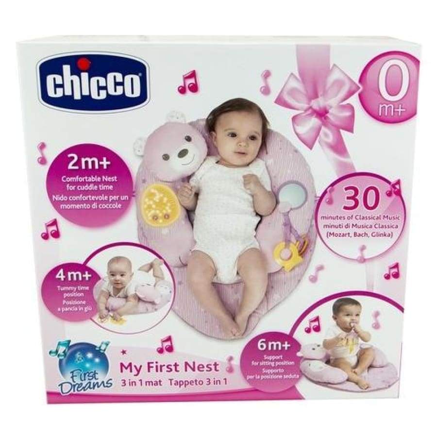 Chicco My First Nest 3 in 1 Playmat - Pink - Toys chicco toys