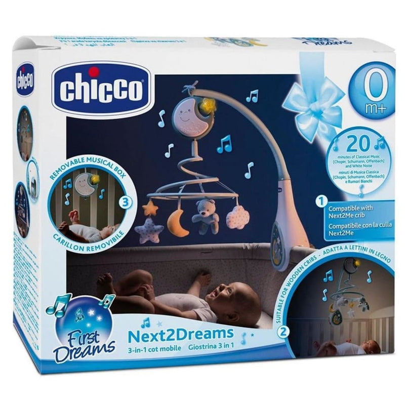 Chicco Next2Dreams Cot Mobile Blue - Toys chicco, toys