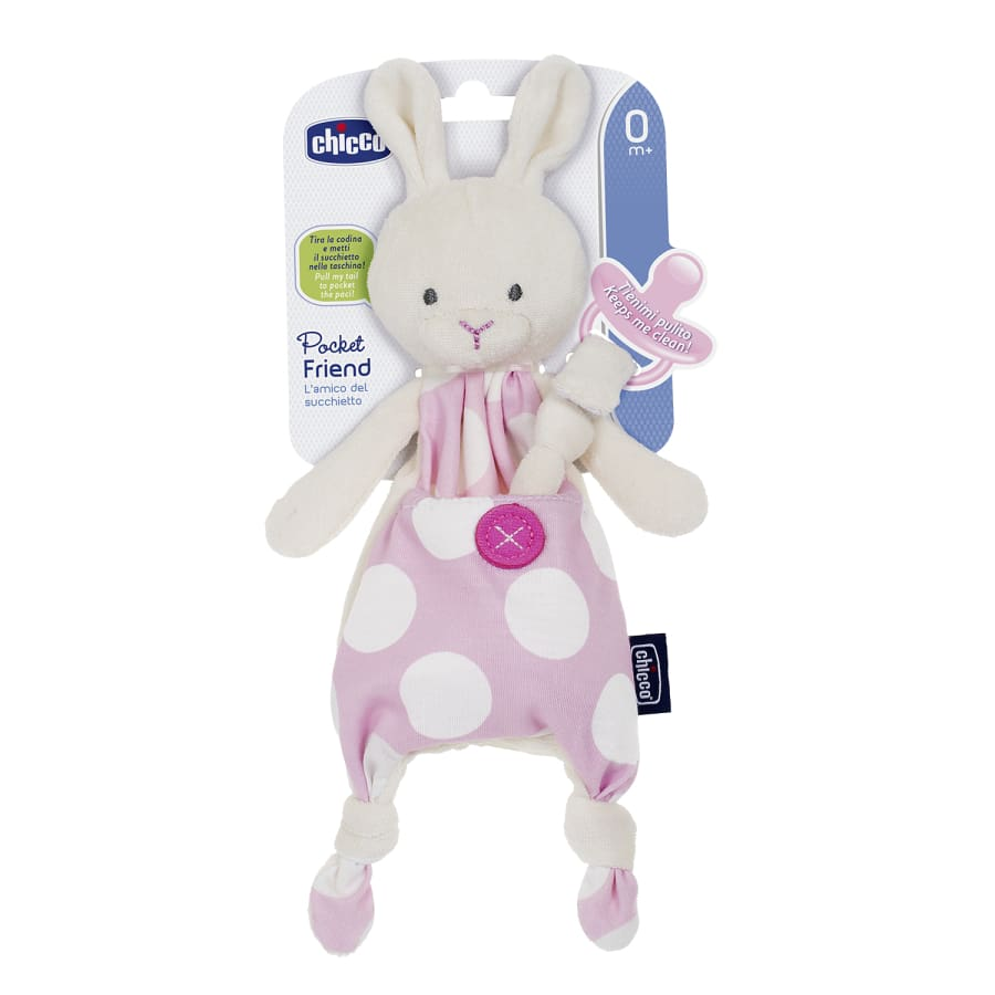 Chicco Pocket Friend Soother Clip - Girl - Soother chicco dummy soother