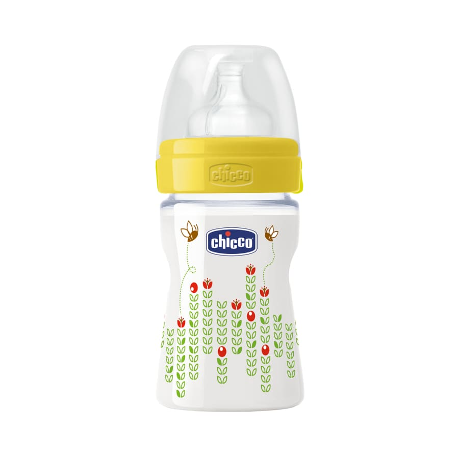 Chicco Well-Being Unisex 0m+ Regular Flow Bottle 150ml - Bottle bottle chicco unisex