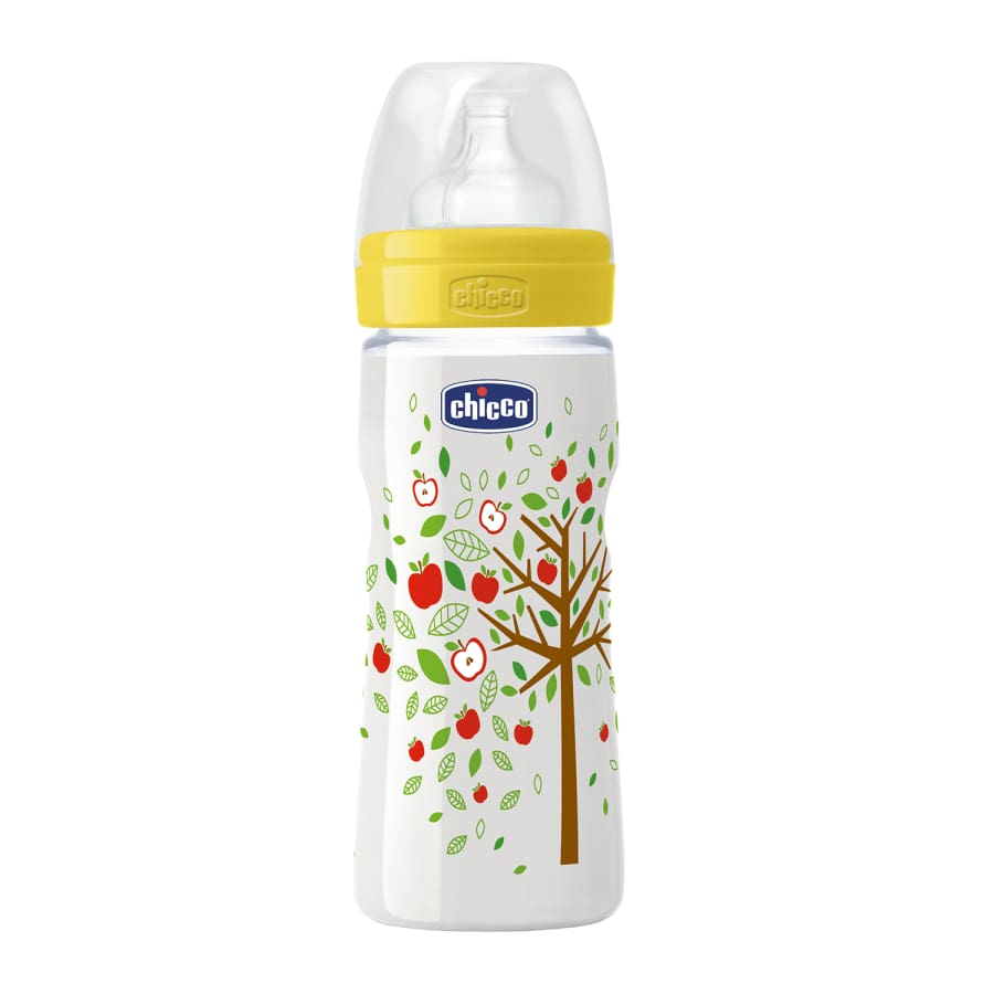 Chicco Well-Being Unisex 4m+ Fast Flow Bottle 330ml - Bottle bottle chicco unisex