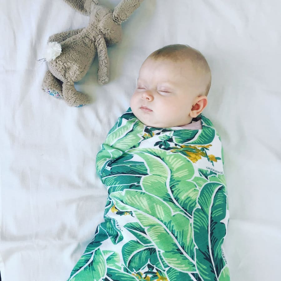 Chuckles & Caz Muslin Swaddle Tropical Palm - Wrap wraps
