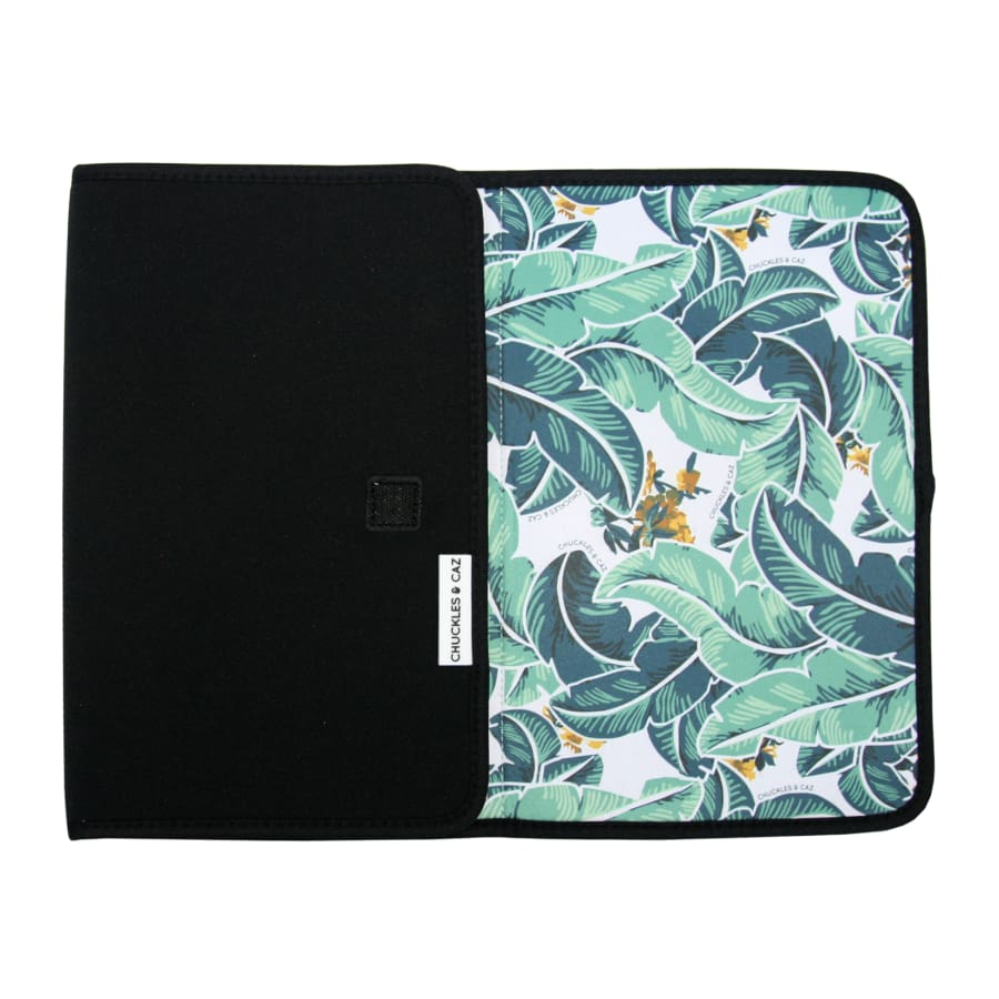 Chuckles & Caz Neoprene Changing Mat - Tropical Palm - Nappy Bag wraps