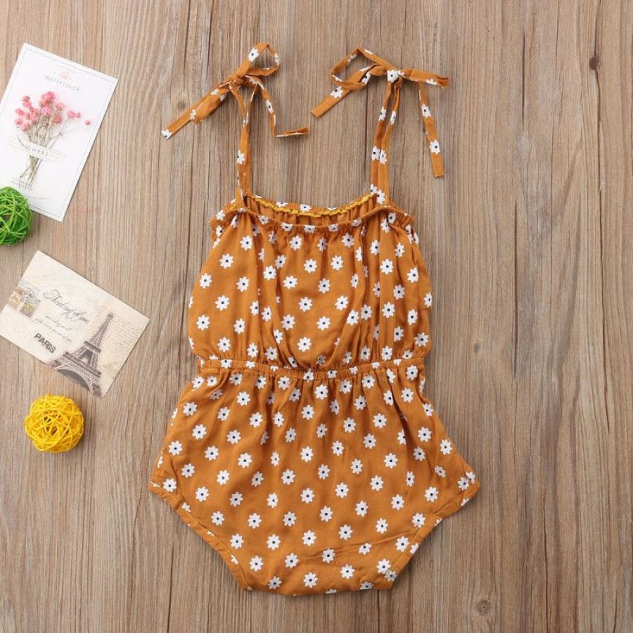 Daisy Bow Romper - Rompers Rompers