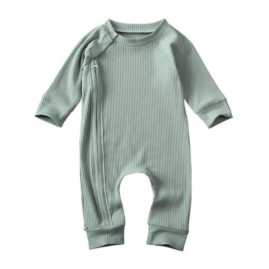 Essentials Zipper Jumpsuit - Moss / 3-6 Months - Onesie onesie