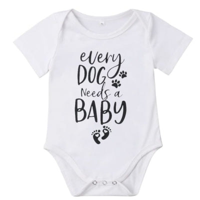Every Dog Needs a Baby Onesie - 0-6 Months - Onesies baby dog onesies unisex