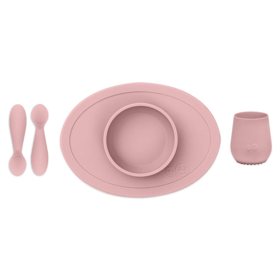 EzPz First Foods Tiny Set Blush - Feeding Bowl, drink cups, ezpz, Feeding