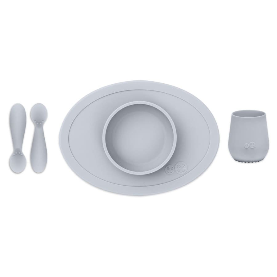 EzPz First Foods Tiny Set Pewter - Feeding Bowl, drink cups, ezpz, Feeding